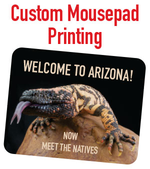Custom printing on mousepads, iphones and more. Tower Media Group is a local Mesa, Gilbert, Chandler area dye sublimation printer